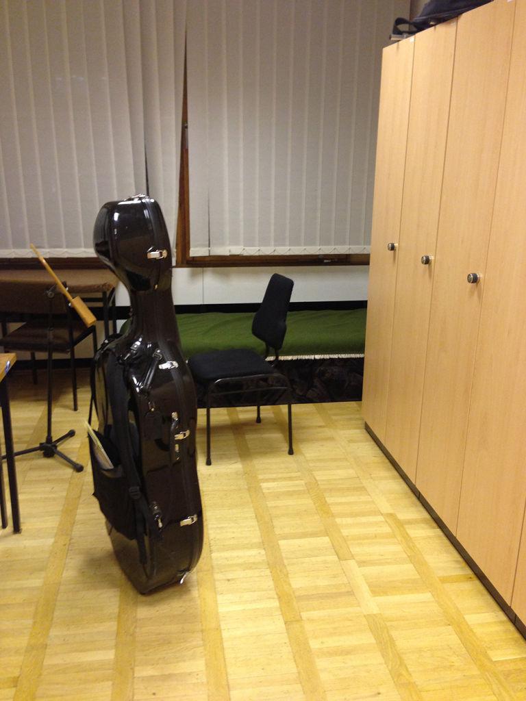 ゲヴァントハウスのチェリスト用楽屋とロッカー