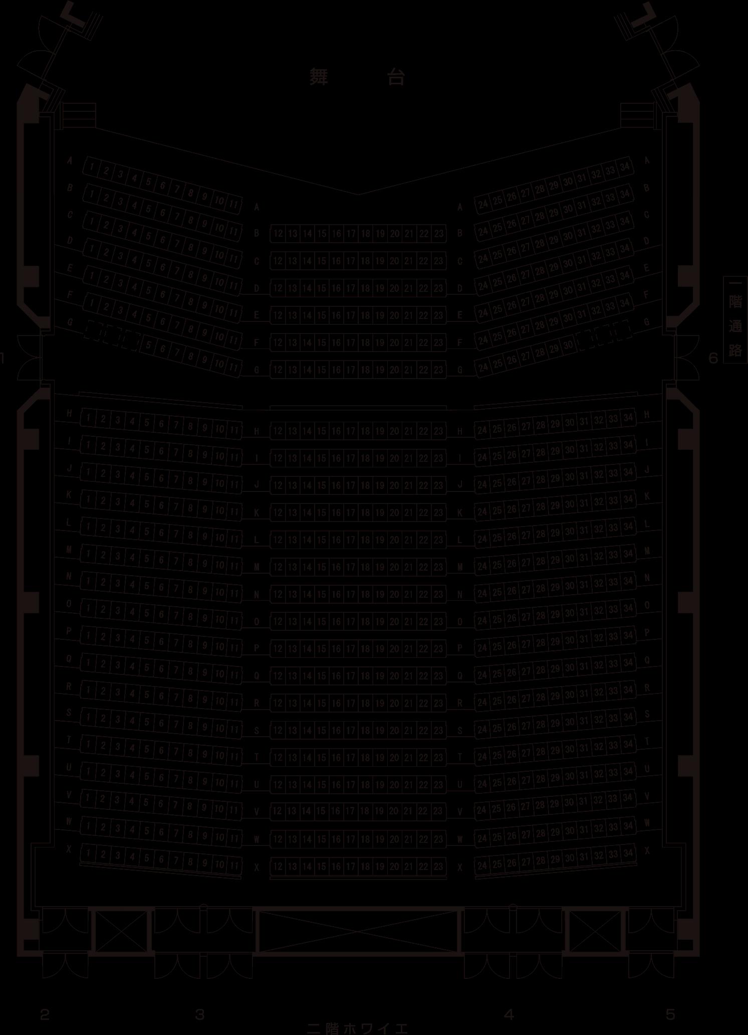 コンサートホール(1階)
