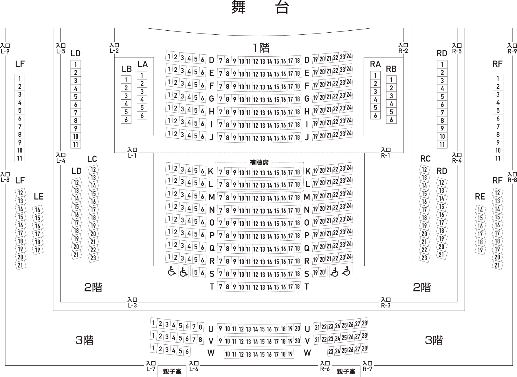 楽楽楽ホール(2階)