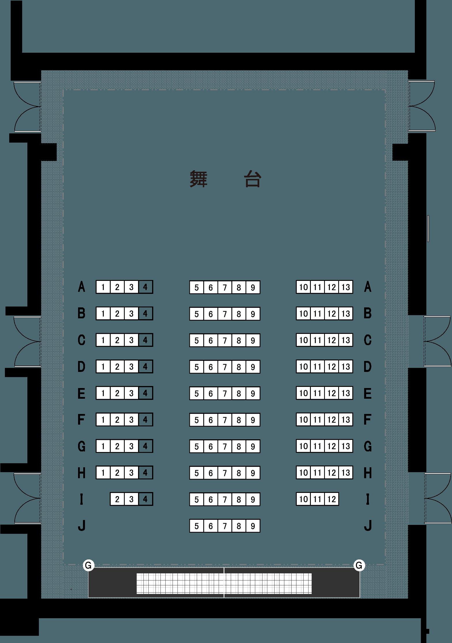 スタジオホール(6階)